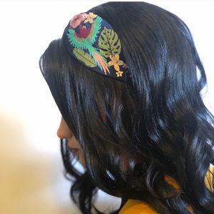 Blue jeweled boho bohemian headband